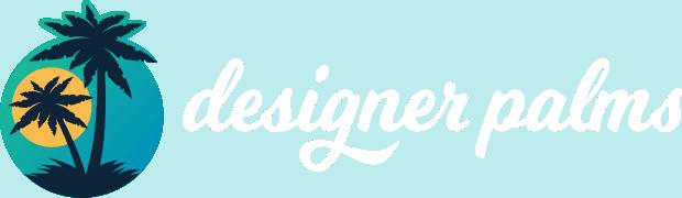 Designer Palms Logo White